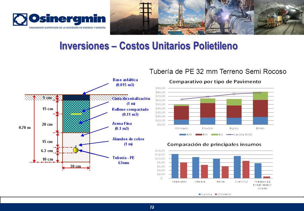 Inversiones – Costos Unitarios Polietileno
