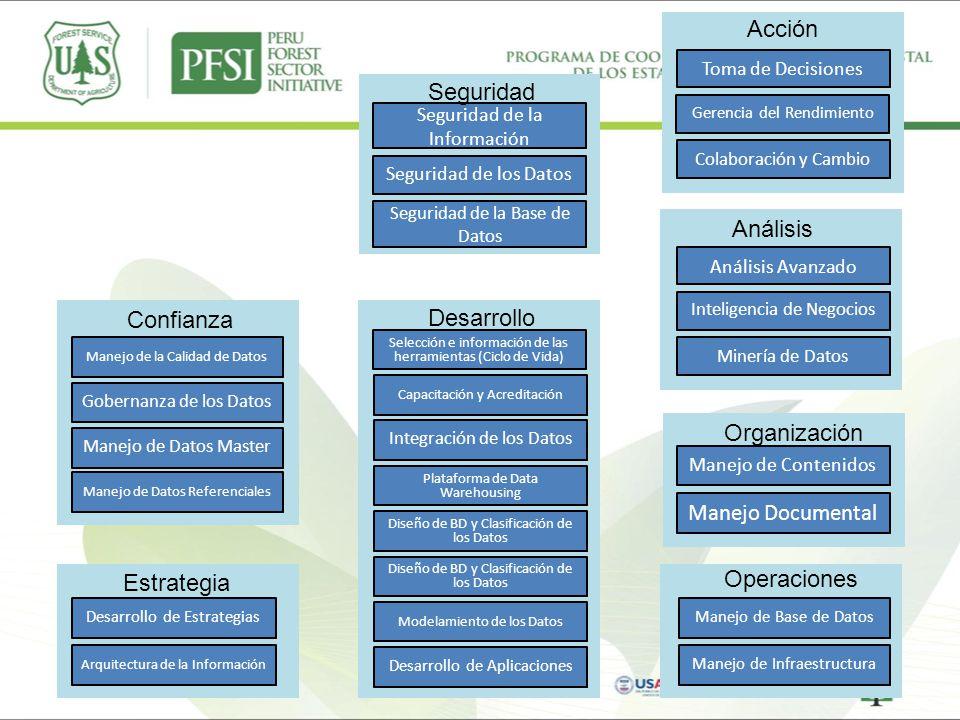 Acción Seguridad Análisis Confianza Desarrollo Organización