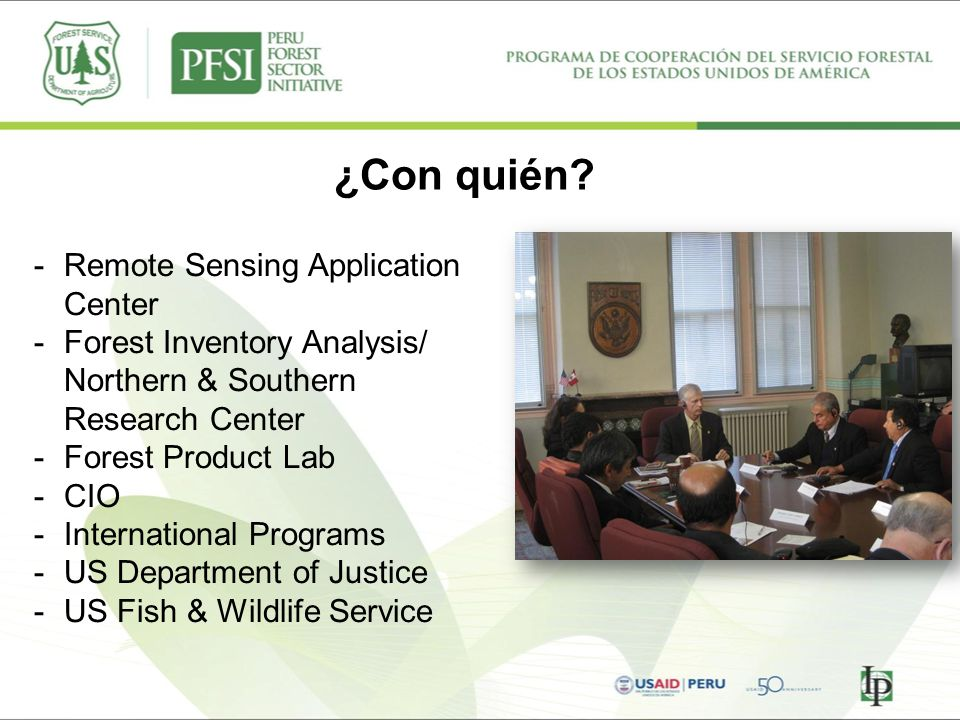 ¿Con quién Remote Sensing Application Center
