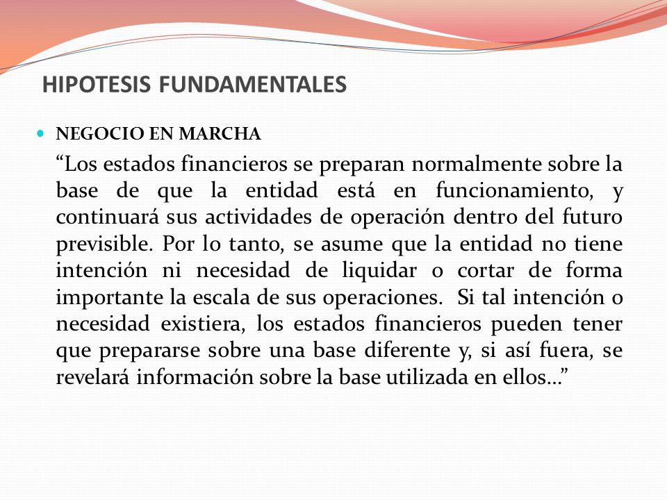 HIPOTESIS FUNDAMENTALES