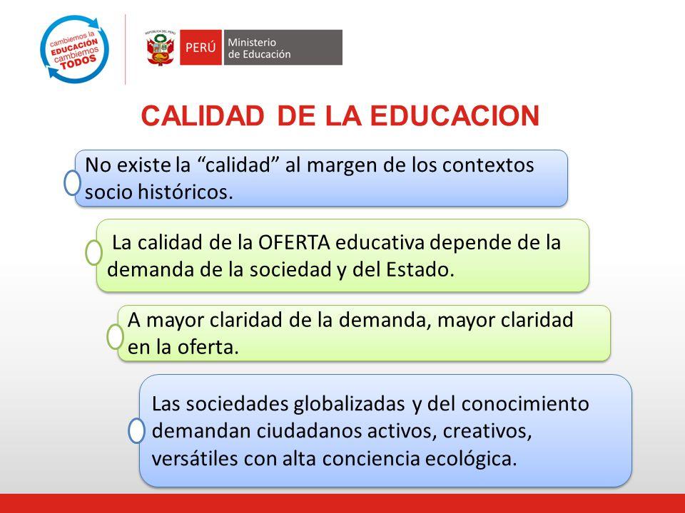 CALIDAD DE LA EDUCACION