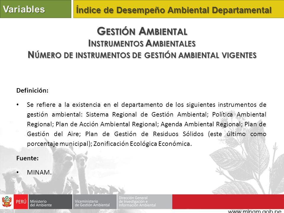 Gestión Ambiental Variables Instrumentos Ambientales