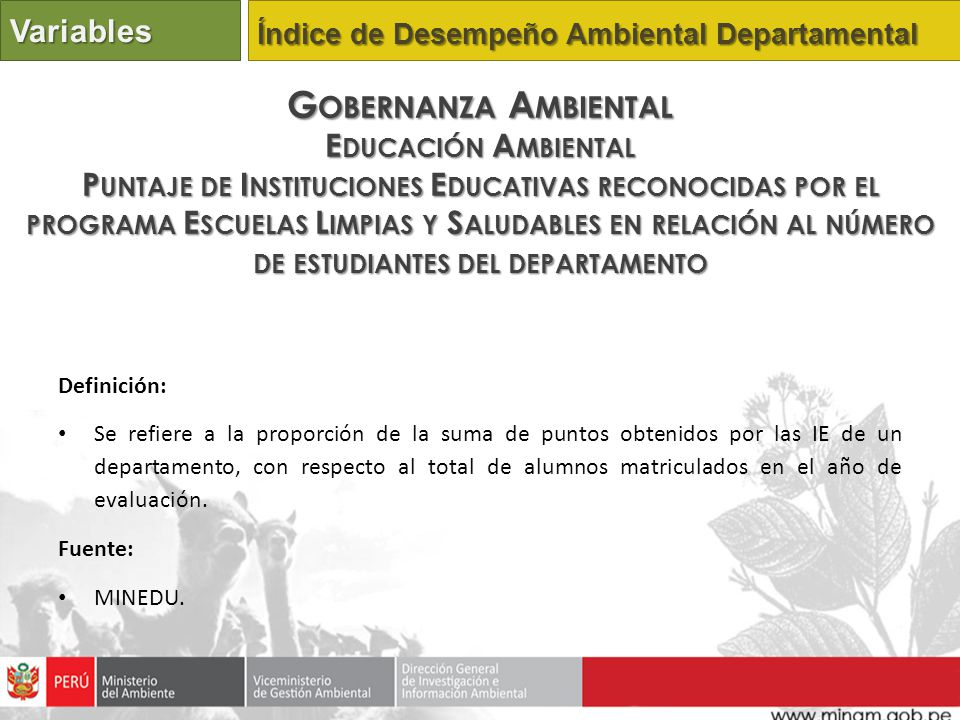 Gobernanza Ambiental Variables Educación Ambiental
