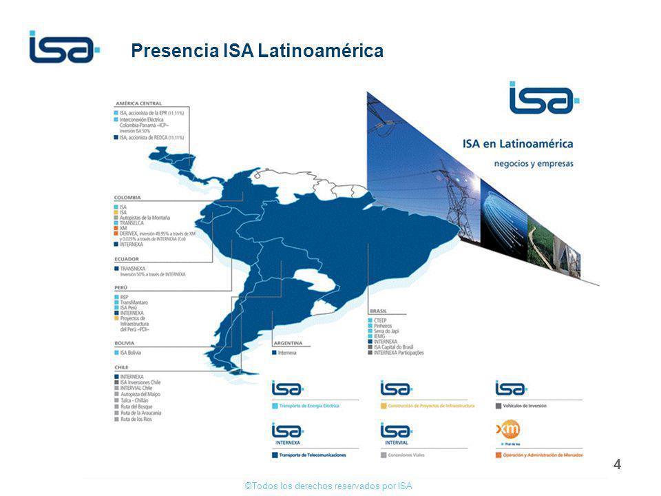 Presencia ISA Latinoamérica