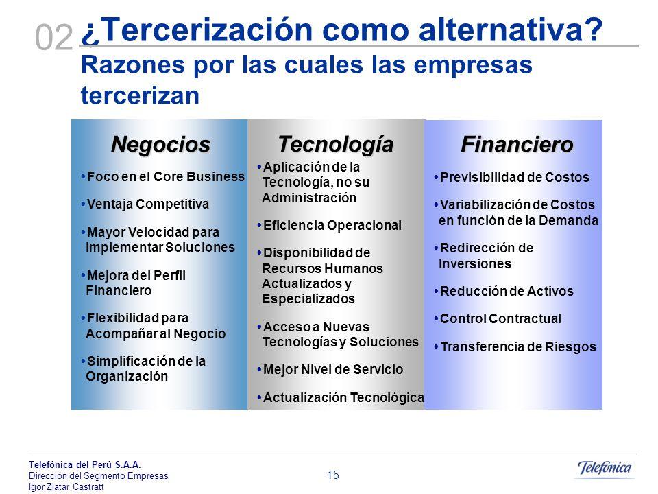 ¿Tercerización como alternativa