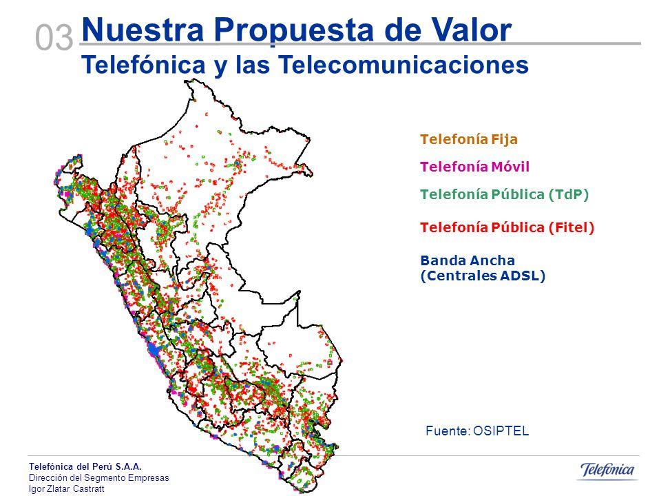 03 Nuestra Propuesta de Valor Telefónica y las Telecomunicaciones