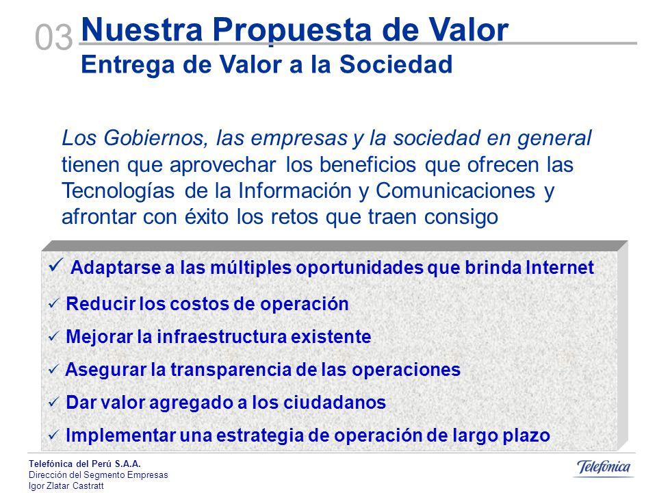 03 Nuestra Propuesta de Valor Entrega de Valor a la Sociedad