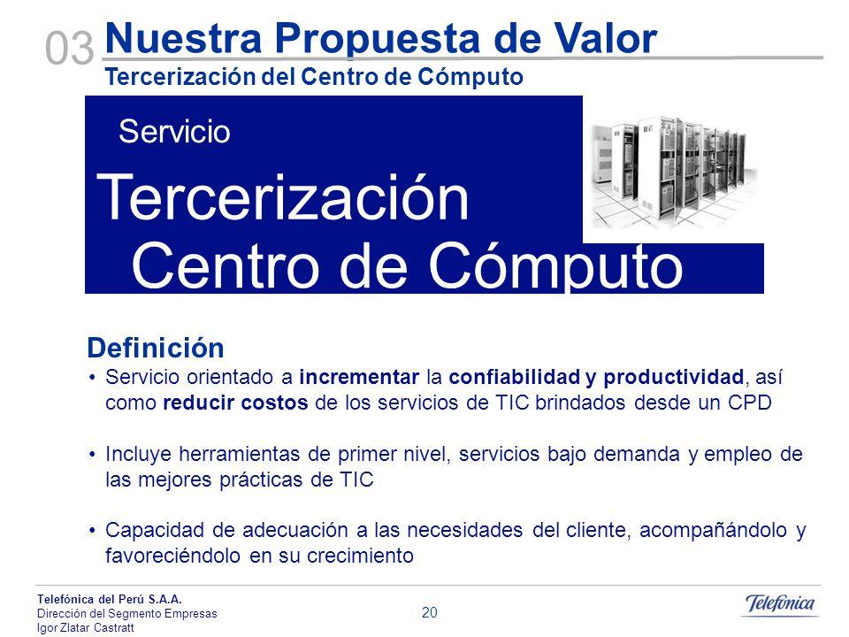 Tercerización Centro de Cómputo 03