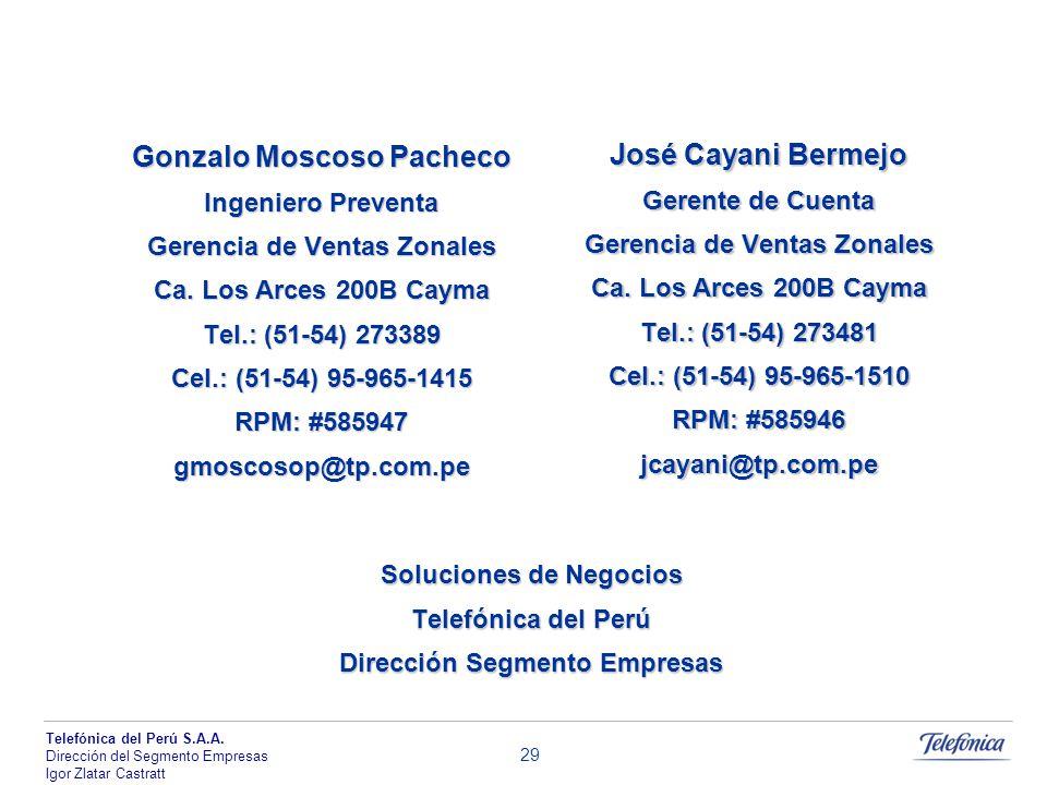 Gonzalo Moscoso Pacheco José Cayani Bermejo
