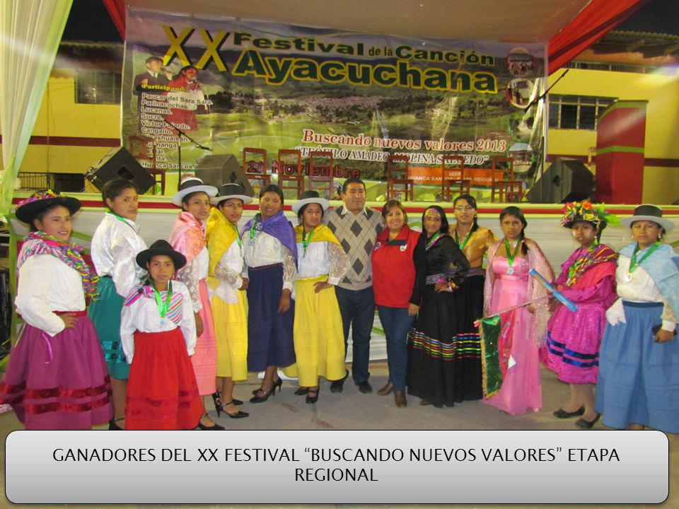 GANADORES DEL XX FESTIVAL BUSCANDO NUEVOS VALORES ETAPA REGIONAL