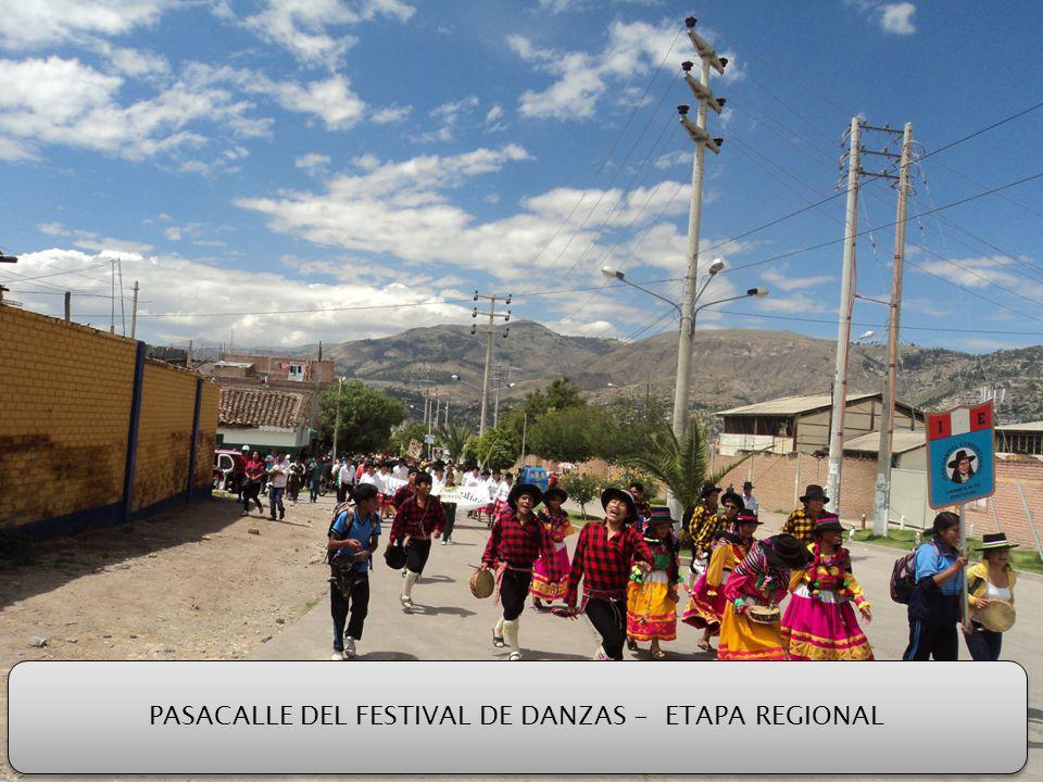 PASACALLE DEL FESTIVAL DE DANZAS - ETAPA REGIONAL