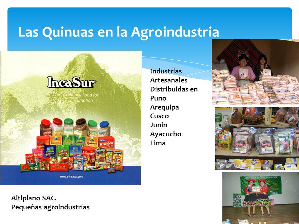 Las Quinuas en la Agroindustria