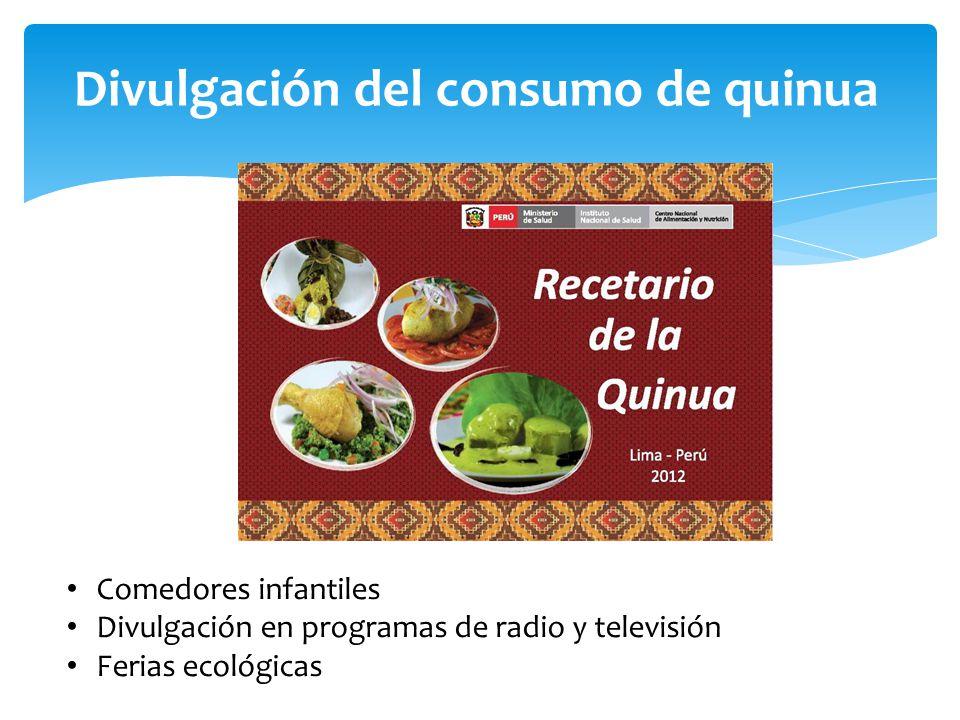 Divulgación del consumo de quinua