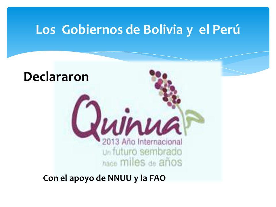 Los Gobiernos de Bolivia y el Perú