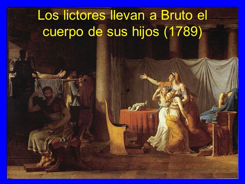 Los lictores llevan a Bruto el cuerpo de sus hijos (1789)