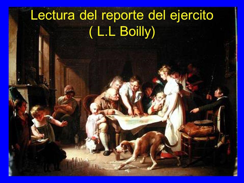 Lectura del reporte del ejercito ( L.L Boilly)