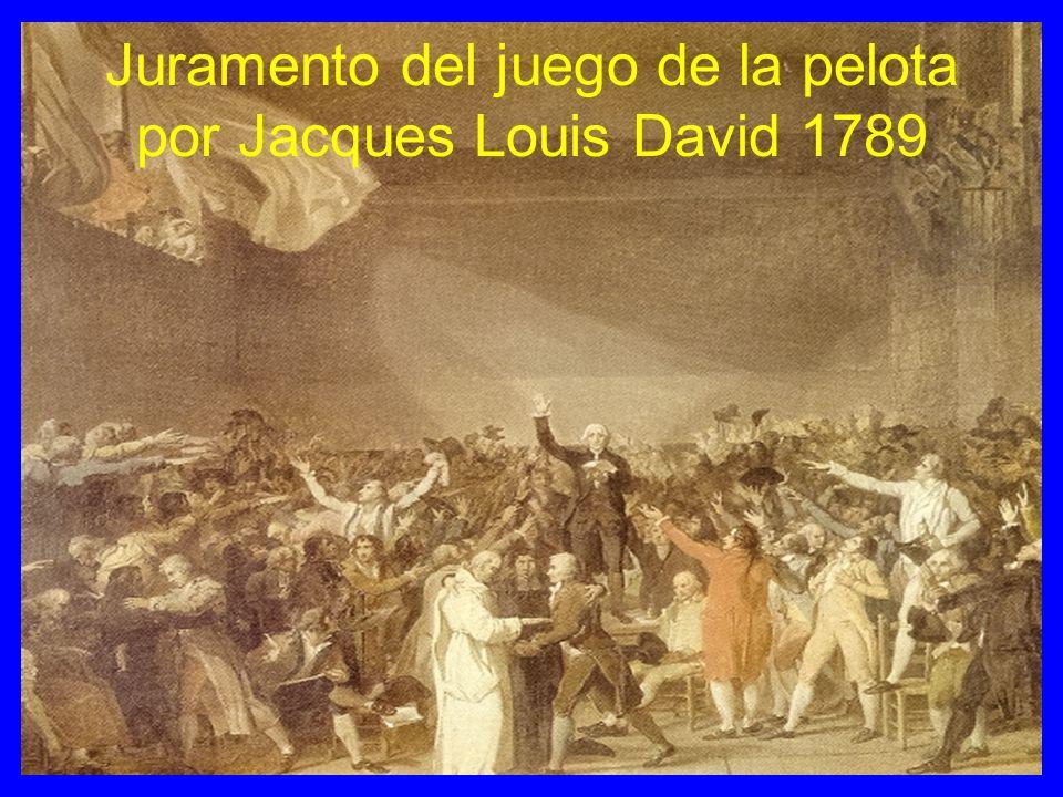 Juramento del juego de la pelota por Jacques Louis David 1789