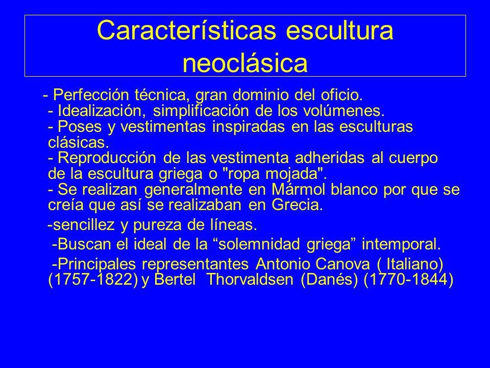 Características escultura neoclásica