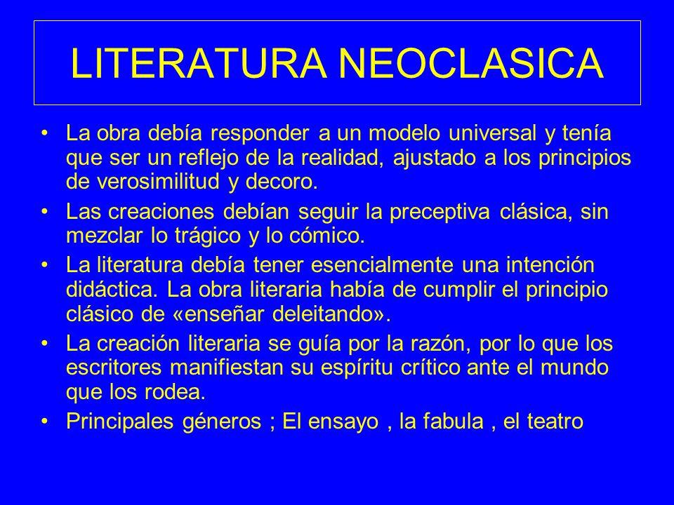 LITERATURA NEOCLASICA