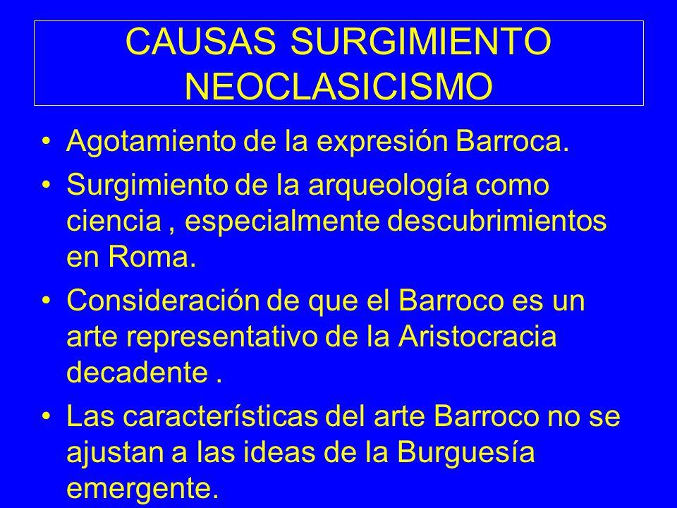 CAUSAS SURGIMIENTO NEOCLASICISMO