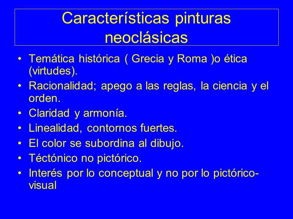 Características pinturas neoclásicas