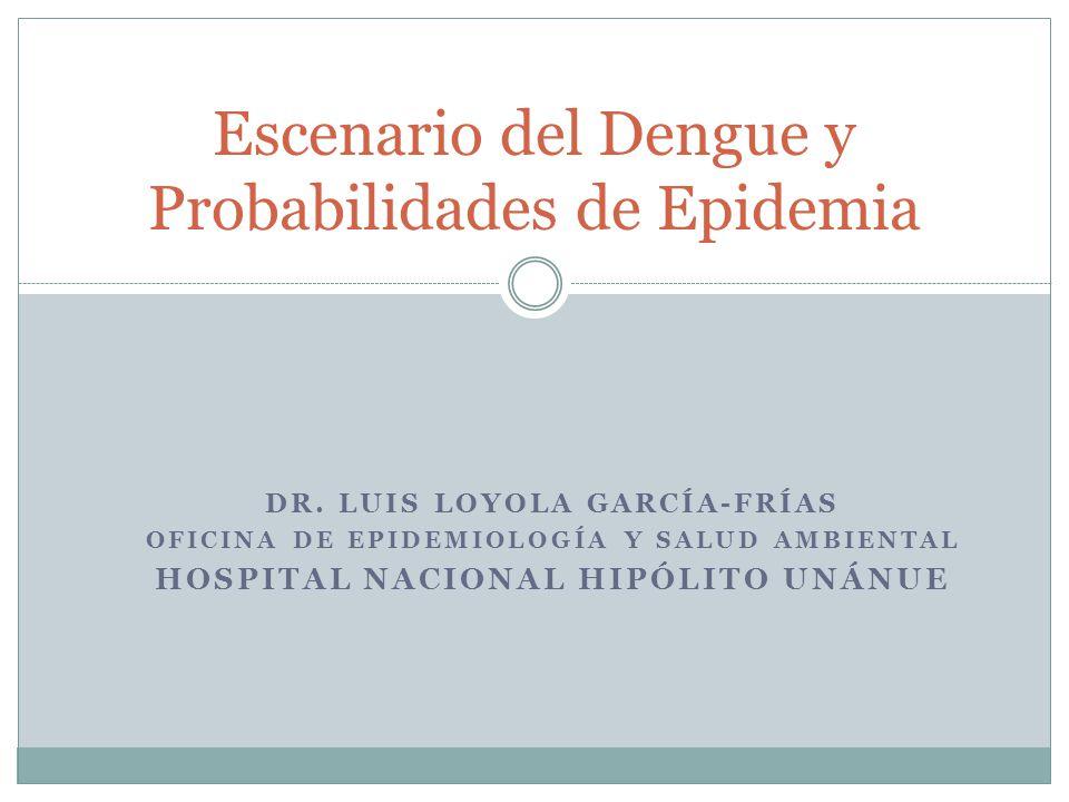 Escenario del Dengue y Probabilidades de Epidemia