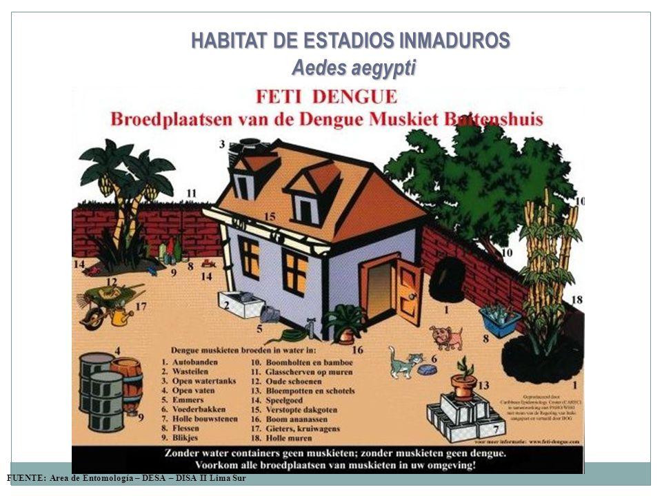 HABITAT DE ESTADIOS INMADUROS
