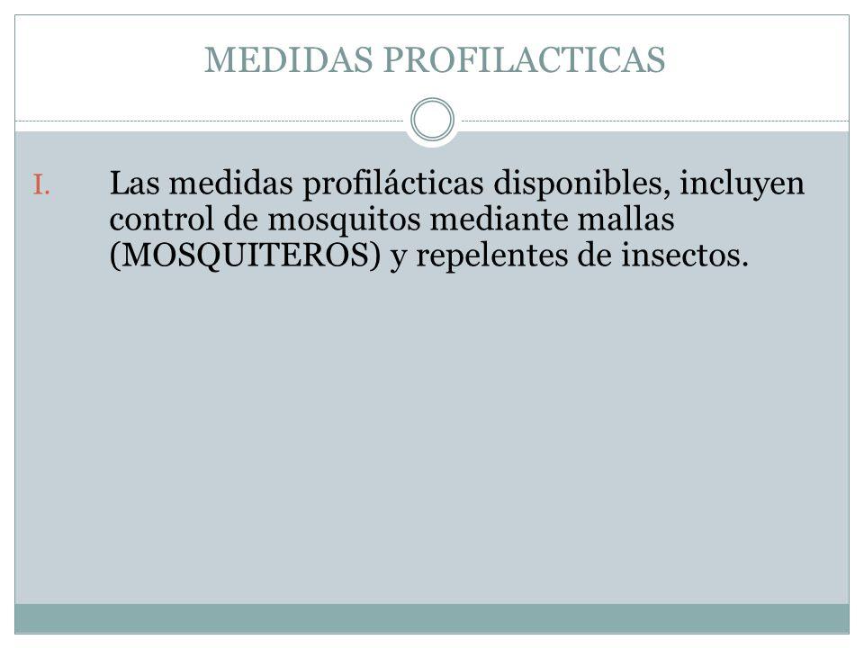 MEDIDAS PROFILACTICAS