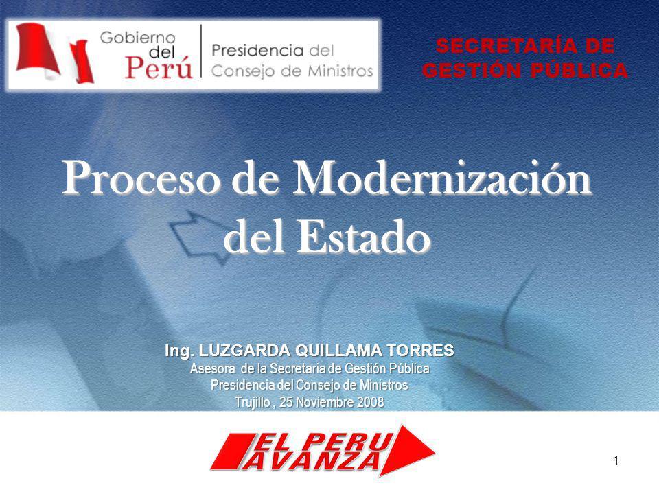 Proceso de Modernización del Estado