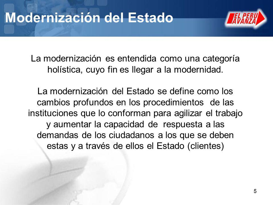 Modernización del Estado