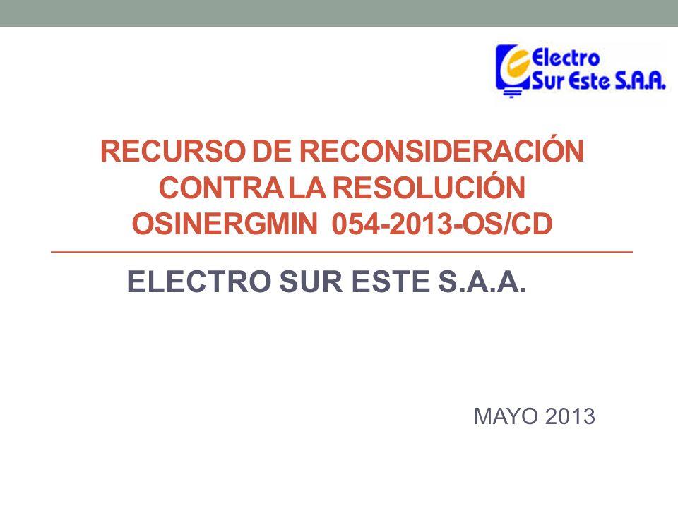 ELECTRO SUR ESTE S.A.A. MAYO 2013