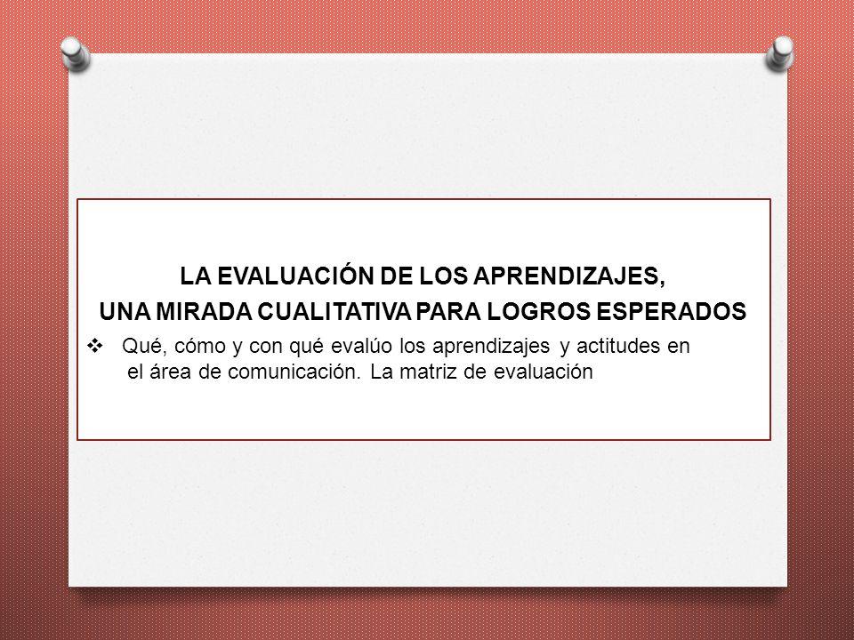 LA EVALUACIÓN DE LOS APRENDIZAJES,