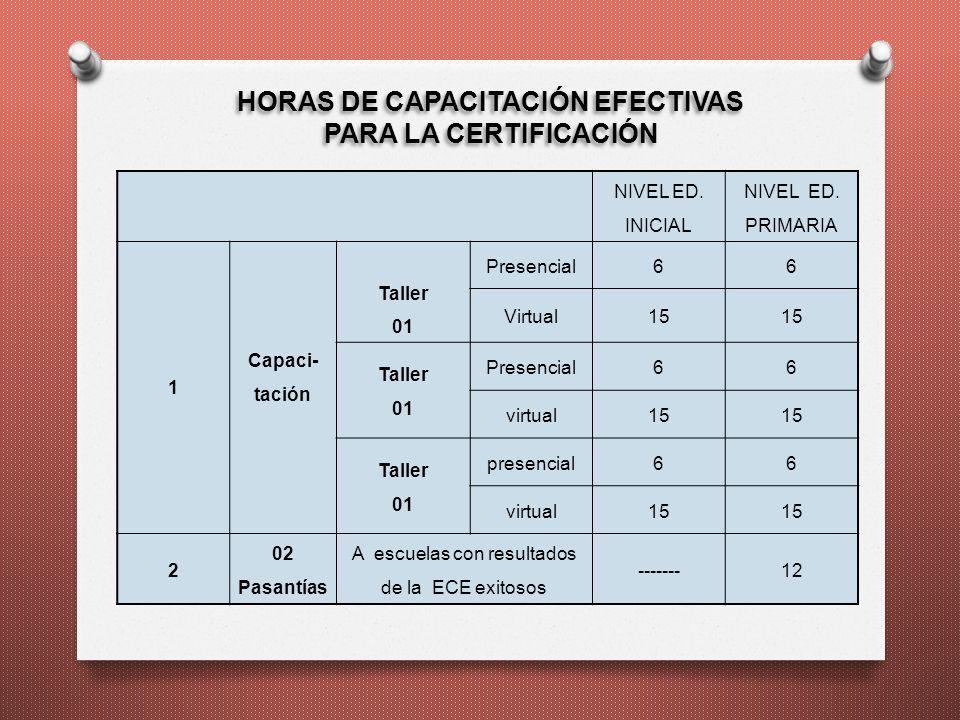 HORAS DE CAPACITACIÓN EFECTIVAS