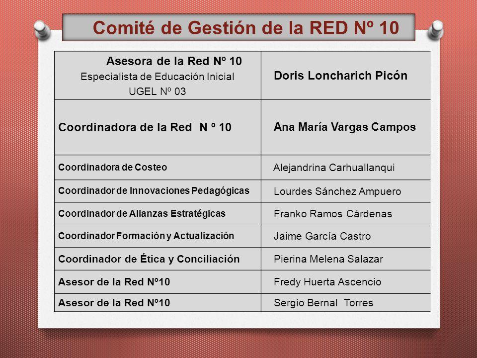 Asesora de la Red Nº 10 Especialista de Educación Inicial UGEL Nº 03