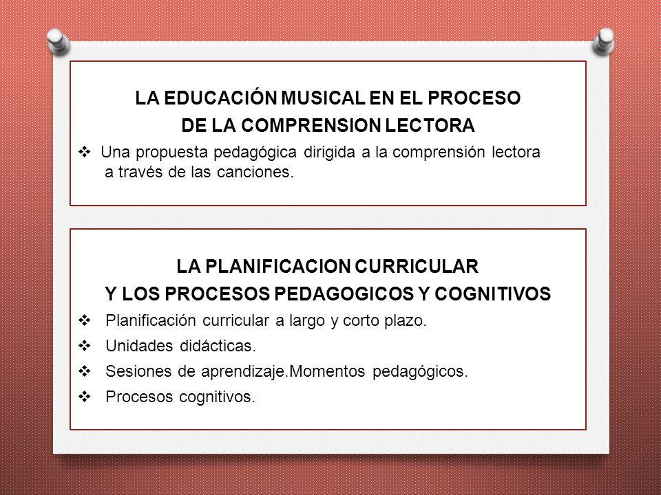 LA EDUCACIÓN MUSICAL EN EL PROCESO DE LA COMPRENSION LECTORA