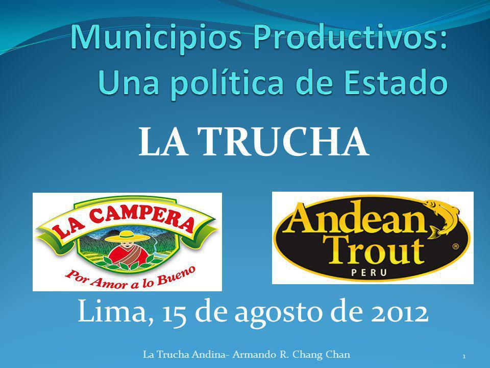Municipios Productivos: Una política de Estado