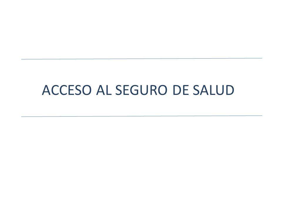 ACCESO AL SEGURO DE SALUD