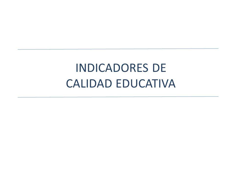 INDICADORES DE CALIDAD EDUCATIVA
