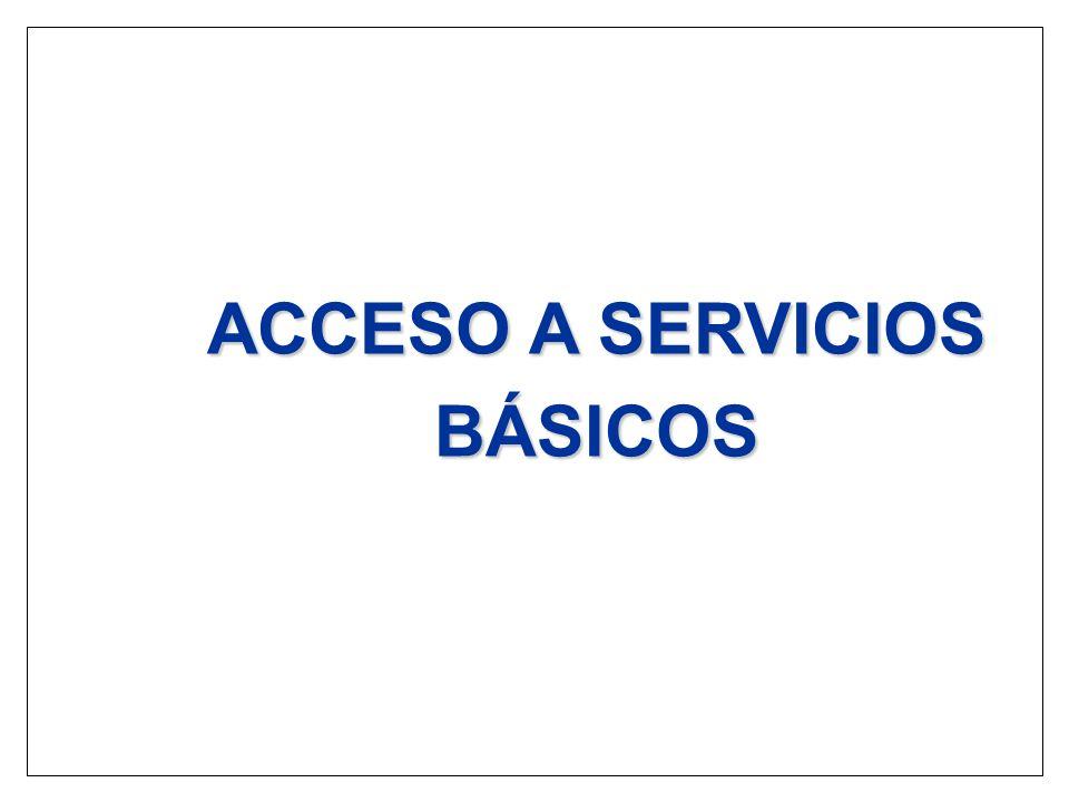 ACCESO A SERVICIOS BÁSICOS