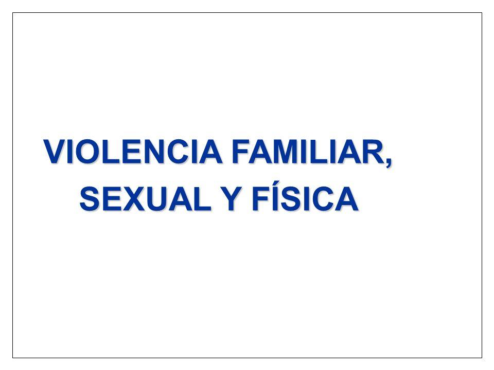 VIOLENCIA FAMILIAR, SEXUAL Y FÍSICA