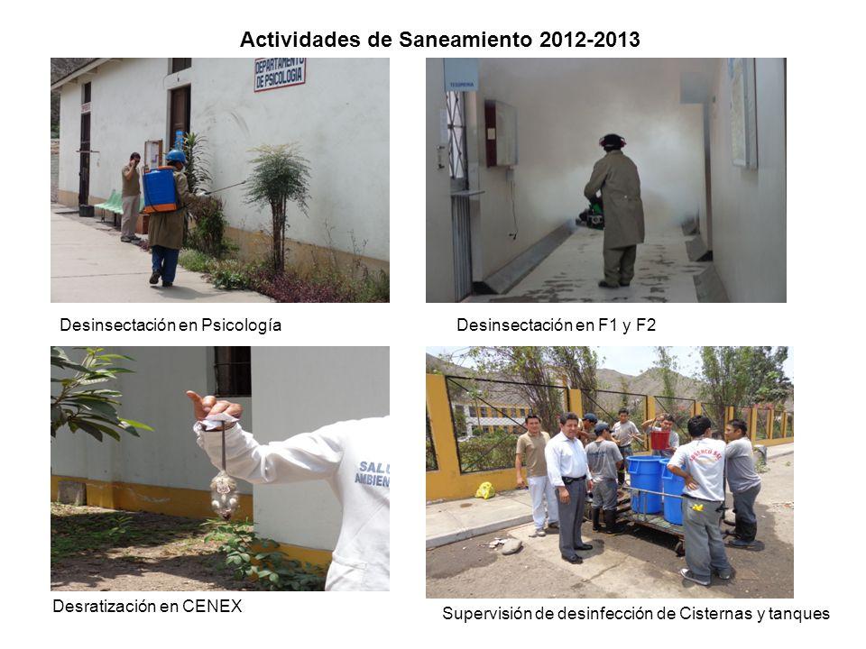 Actividades de Saneamiento 2012-2013
