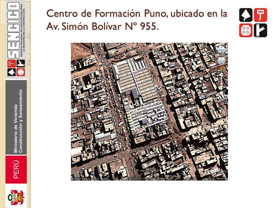 Centro de Formación Puno, ubicado en la Av. Simón Bolívar Nº 955.