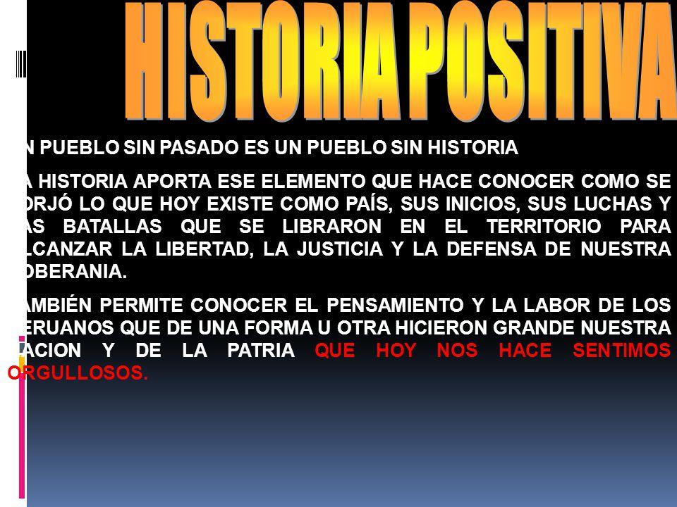 HISTORIA POSITIVA UN PUEBLO SIN PASADO ES UN PUEBLO SIN HISTORIA