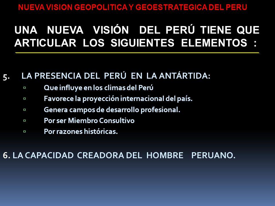 NUEVA VISION GEOPOLITICA Y GEOESTRATEGICA DEL PERU