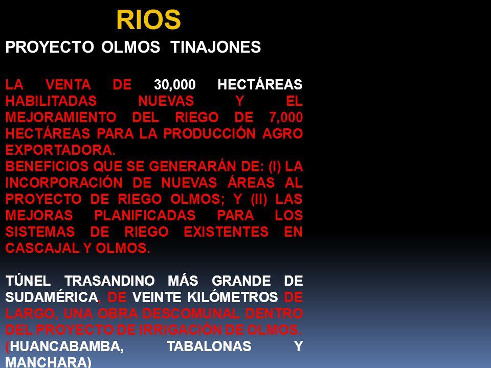 RIOS PROYECTO OLMOS TINAJONES