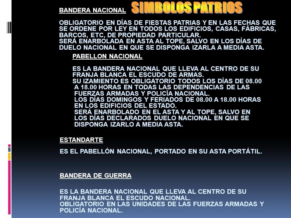 SIMBOLOS PATRIOS BANDERA NACIONAL