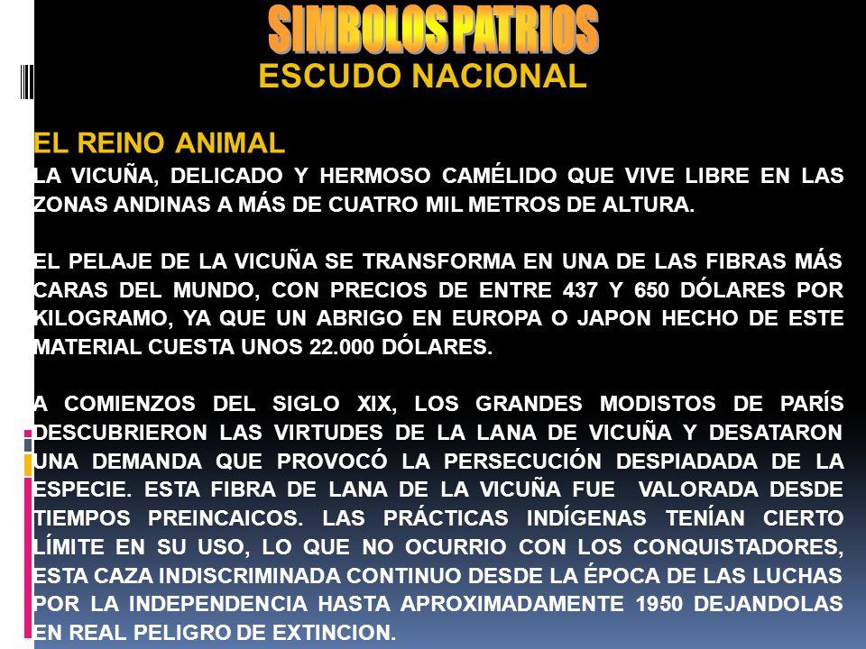SIMBOLOS PATRIOS ESCUDO NACIONAL EL REINO ANIMAL