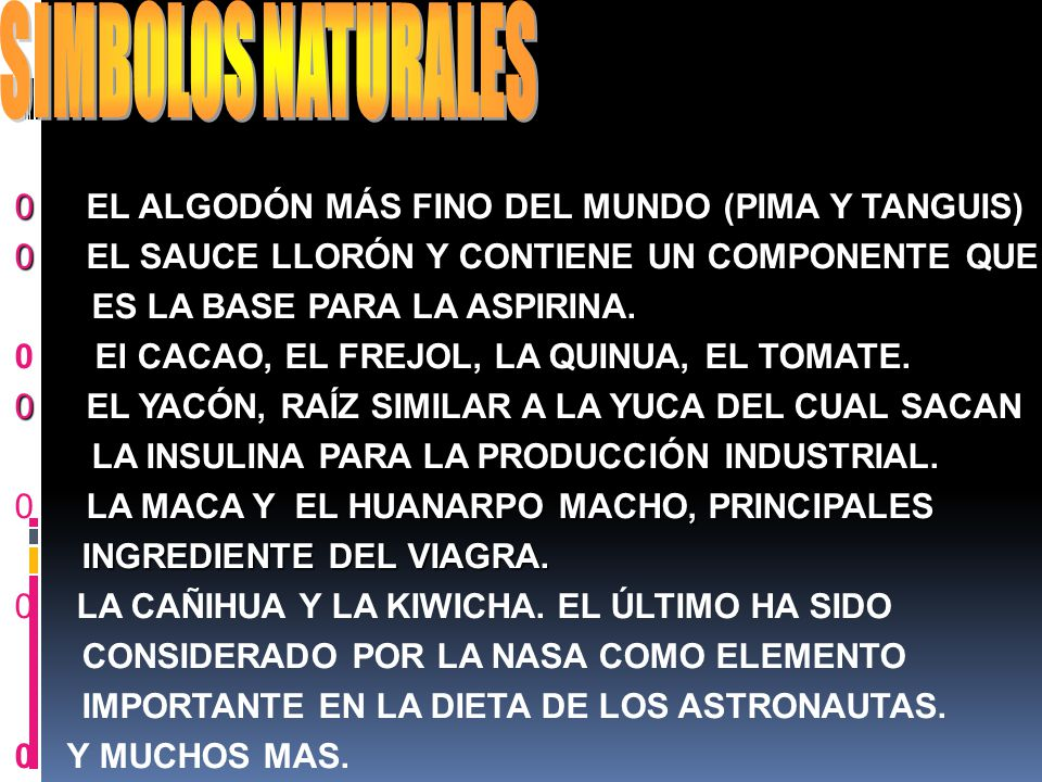 SIMBOLOS NATURALES EL ALGODÓN MÁS FINO DEL MUNDO (PIMA Y TANGUIS)