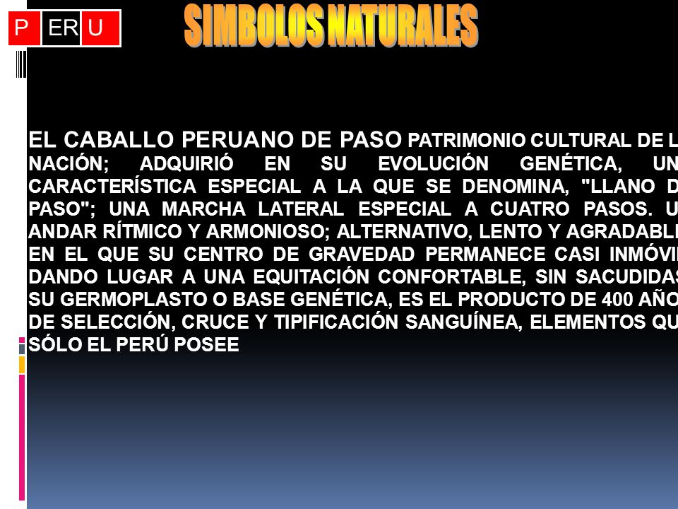 SIMBOLOS NATURALES P ER U