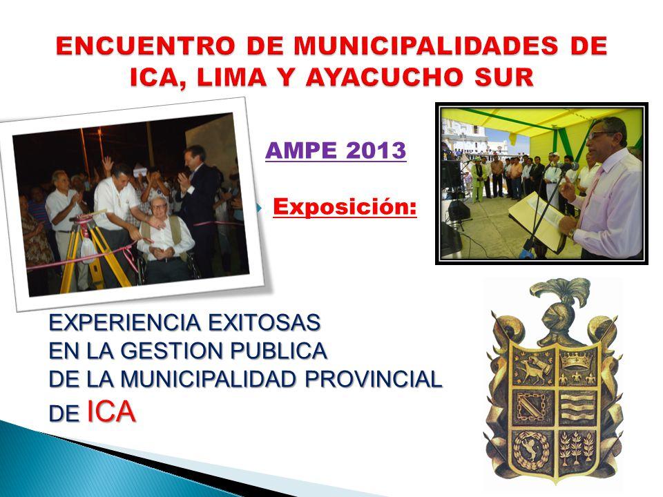 ENCUENTRO DE MUNICIPALIDADES DE ICA, LIMA Y AYACUCHO SUR